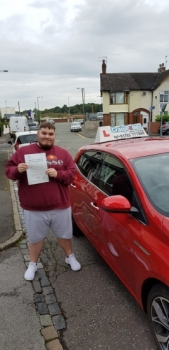 A big congratulations to Kieran Prince, who has passed his driving test today at Cobridge Driving Test Centre, at his First attempt and with just 3 driver faults.<br />