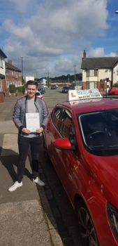 A big congratulations to Kallum Franklin, who has passed his driving test today at Cobridge Driving Test Centre, at his First attempt and with just 6 driver faults.<br />
