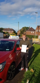 A big congratulations to Kearan Harrison, who has passed his driving test today at Cobridge Driving Test Centre, at his First attempt and with just 5 driver faults.<br />