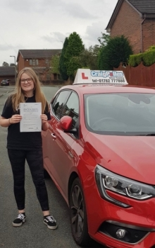 A big congratulations to Mya Edgerton, who has passed her driving test today at Cobridge Driving Test Centre, at her First attempt and with just 1 driver fault.<br />