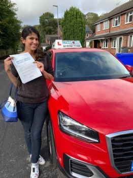 A big congratulations to Dr Maria Malik Misbah, who has passed her driving test today at Newcastle Driving Test Centre, with just 3 driver faults.<br />