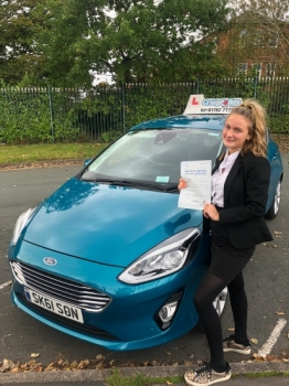 A big congratulations to Jess Southern, who has passed her driving test today at Newcastle Driving Test Centre, at her First attempt with just 3 driver faults.<br />
