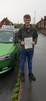 A big congratulations to Keanan Forrester, who has passed his driving test today at Cobridge Driving Test Centre, at his First attempt with just 2 driver faults.<br />
