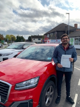 A big congratulations to Jimson Jacob, who has passed his driving test today at Newcastle Driving Test Centre with just 2 driver faults.<br />
