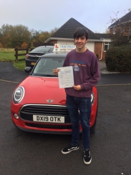 A big congratulations to Joe Irving, who has passed his driving test today at Newcastle Driving Test Centre, at his First attempt and with just 6 driver faults.<br />