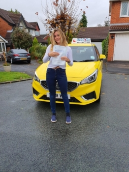 A big congratulations to Charlotte Cooper, who has passed her driving test today at Newcastle Driving Test Centre, with just 3 driver faults.<br />