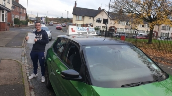 A big congratulations to Conor Bowden, who has passed his driving test today at Cobridge Driving Test Centre, at his First attempt and with 8 driver faults.<br />