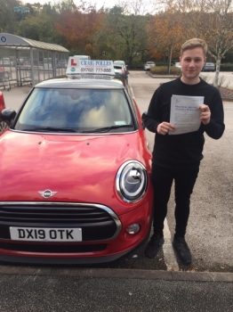 A big congratulations to Liam Johnson, who has passed his driving test today at Newcastle Driving Test Centre, with just 4 driver faults.<br />