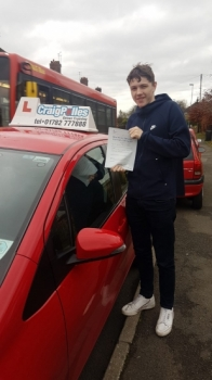 A big congratulations to Ben Bentley, who has passed his driving test today at Newcastle Driving Test Centre, at his First attempt and with just 2 driver faults.<br />
