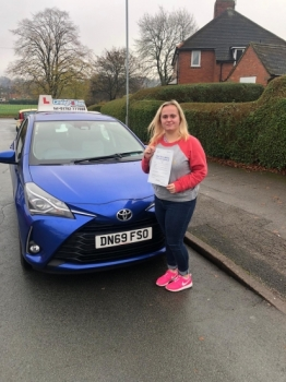 A big congratulations to Hannah Cooper, who has passed her driving test at Newcastle Driving Test Centre, with just 3 driver faults.<br />