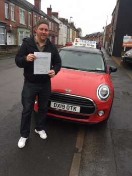 A big congratulations to David Lowe, who has passed his driving test today at Newcastle Driving Test Centre, at his First attempt and with just 5 driver faults.<br />