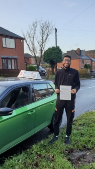 A big congratulations to Hamza Yusuf, who has passed his driving test today at Cobridge Driving Test Centre, at his First attempt.Well done Hamza - safe driving from all at Craig Polles Instructor Training and Driving School. 🙂🚗Instructor-Jamie Lees