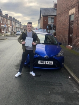 A big congratulations to Jordan Walford, who has passed his driving test toady at Cobridge Driving Test Centre, with just 2 driver faults.<br />