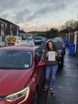 A big congratulations to Courtney Baskeyfield, who has passed her driving test today at Cobridge Driving Test Centre, with 7 driver faults.<br />