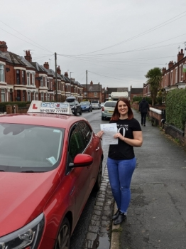 A big congratulations to Kimberley Hayward, who has passed her driving test today at Crewe Driving Test Centre, at her First attempt and with just 5 driver faults.<br />