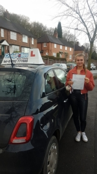 A big congratulations to Sacha Bradbury who passed her driving test today at Newcastle Driving Test Centre, at her First attempt and with just 1 driver fault.<br />