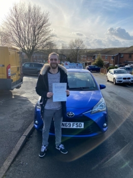 A big congratulations to Brad Evans, who passed his driving test today at Newcastle Driving Test Centre, with just 5 driver faults.<br />