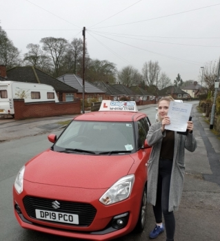 A big congratulations to Sophie Sterling, who has passed her driving test today at Cobridge Driving Test Centre, at her First attempt and with just 4 driver faults.<br />