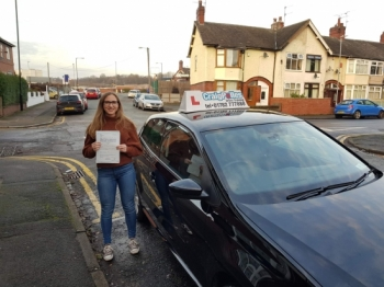 A big congratulations to Niamh Hogg, who has passed her driving test at Cobridge Driving Test Centre.<br />