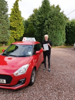 A big congratulations to James Leek, who has passed his driving test today at Cobridge Driving Test Centre, with just 4 driver faults.<br />