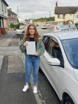 A big congratulations to Alexandra Cope, who has passed her driving test today at Cobridge Driving Test Centre, with just 4 driver faults.<br />