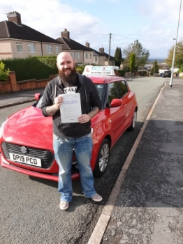 A big congratulations to Lee Vernall, who has passed his driving test today at Cobridge Driving Test Centre, at his First attempt and with just 2 driver faults.<br />