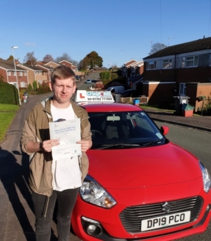 A big congratulations to Fin Colclough, who has passed his driving test today at Cobridge Driving Test Centre, at his First attempt and with 7 driver faults.<br />