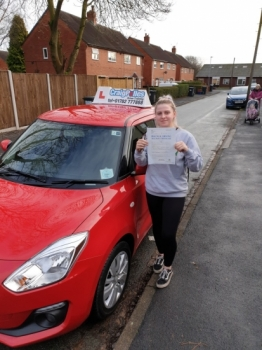 A big congratulations to Alyshia Conroy, who has passed her driving test today at Newcastle Driving Test Centre, at her First attempt and with 6 driver faults.<br />