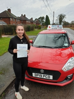 A big congratulations to Maisie Kearney, who has passed her driving test today at Cobridge Driving Test Centre, with just 3 driver faults.<br />