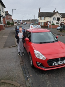 A big congratulations to Callan Hackney, who passed his driving test today at Cobridge Driving Test Centre, with 8 driver faults.Well done Callan- safe driving from all at Craig Polles Instructor Training and Driving School. 🙂🚗Instructor-Andrew Crompton