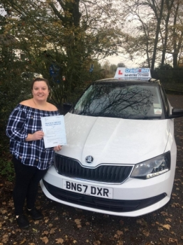A big congratulations to Emma Johnson, who has passed her driving test today at Cobridge Driving Test Centre, with just 2 driver faults.<br />