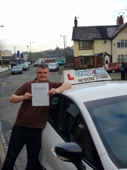 A big congratulations to Ryan Denton, who has passed his driving test today at Cobridge Driving Test Centre. First time and with just 2 driver faults.<br />