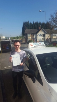 A big congratulations to Ryan Hughes Ryan passed his driving test today at Cobridge Driving Test Centre first time and with just 1 driver fault <br />