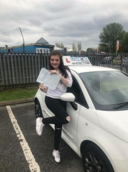 A big congratulations to Sam Davey Sam passed her driving test today at Newcastle Driving Test Centre first time and with just 5 driver faults <br />