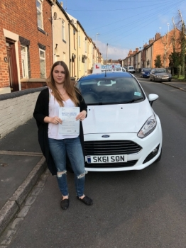 A big congratulations to Samantha Shaw, who has passed her driving test today at Newcastle Driving Test Centre, with just 4 driver faults.<br />