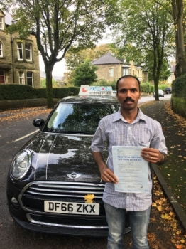 A big congratulations to Santhosh Jacob Santhosh passed his driving test today at Buxton Driving Test Centre and with just 2 driver faults<br />