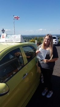 A big congratulations to Saskia Fagan Saskia passed her driving test today at Newcastle Driving Test Centre first time and with just 5 driver faults <br />