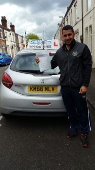 A big congratulations to Sediq Khan Sediq passed his driving test today at Cobridge Driving Test Centre first time and with just 4 driver faults <br />