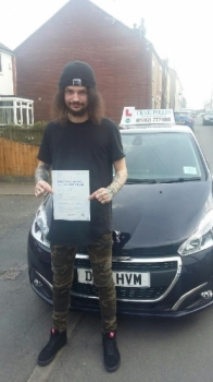 A big congratulations to Terry Kane, who has passed his driving test today at Newcastle Driving Test Centre, at his First attempt and with 7 driver faults.<br />