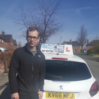 A big congratulations to Todd Thompstone, who has passed his driving test at Cobridge Driving Test Centre, at his First attempt and with just 4 driver faults.<br />