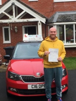 A big congratulations to Tom McCormick, who has passed his driving test today at Cobridge Driving Test Centre, at his First attempt and with just 2 driver faults.<br />