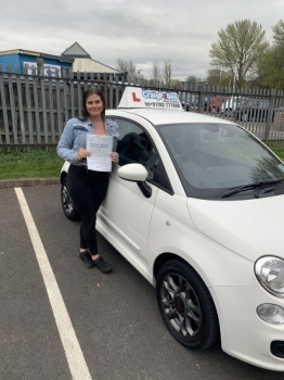 A big congratulations to Becky Allen, who has passed her driving test at Newcastle Driving Test Centre, with just 4 driver faults.<br />