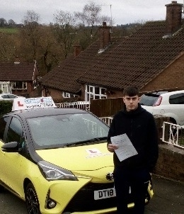 A big congratulations to Tom Huson, who has passed his driving test today at Cobridge Driving Test Centre, with just 4 driver faults.<br />