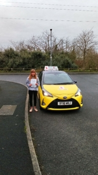 A big congratulations to Meg Lovatt, who has passed her driving test today at Newcastle Driving Test Centre, with just 4 driver faults.<br />
