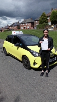 A big congratulations to Siobhan Hughes, who has passed her driving test today at Cobridge Driving Test Centre, with just 5 driver faults.<br />